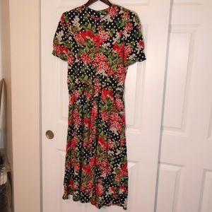 Vintage Jessica Howard Cherry Blossom Floral Dress